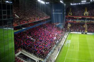 Красно-синие цвета, мы - фанаты ЦСКА!