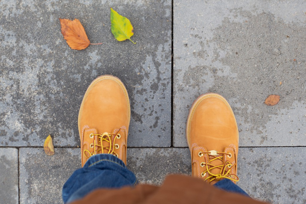 Цвет обуви - осень